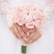 Свадебный салон ручной работы. Ярмарка Мастеров - ручная работа Нежный букет невесты из пионов ручной работы. Handmade.