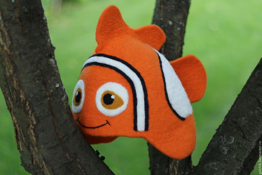 """Шапки ручной работы. Ярмарка Мастеров - ручная работа. Купить Шапка для бани """"Рыбка"""". Handmade. Комбинированный, банная шапка"""