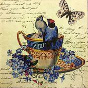 Материалы для творчества ручной работы. Ярмарка Мастеров - ручная работа Нежные создания. Птички 2 видаСалфетки для декупажа. Handmade.
