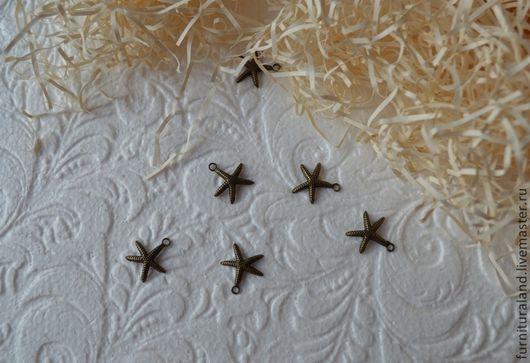 """Для украшений ручной работы. Ярмарка Мастеров - ручная работа. Купить Подвеска """"Морская звезда"""", малая.. Handmade. Морская звезда"""
