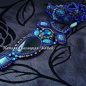 """Украшения ручной работы. Ярмарка Мастеров - ручная работа Комплект """"Синяя бездна 2"""". Handmade."""
