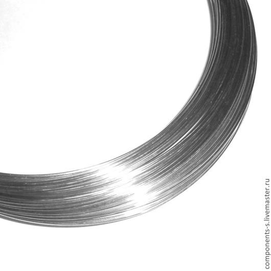 Для украшений ручной работы. Ярмарка Мастеров - ручная работа. Купить Проволока серебро, круглая - 0.3мм. Handmade. Серебро