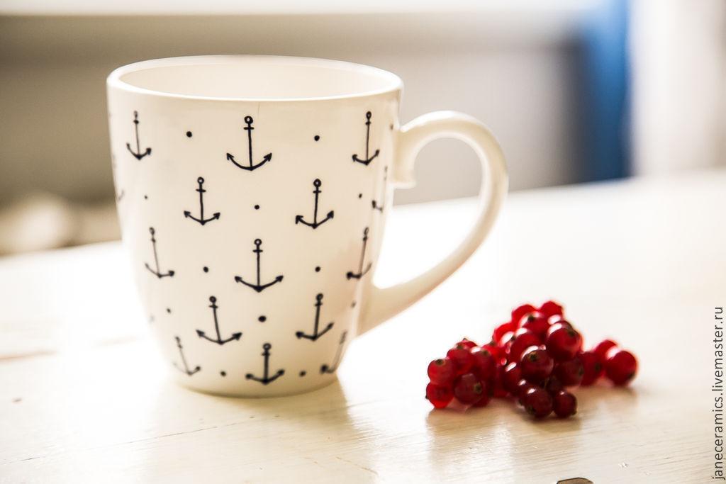 sailor. Mug handmade ceramics, Mugs and cups, Zhukovsky,  Фото №1