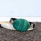 Украшения handmade. Livemaster - original item Bracelet with a large stone on the zodiac sign on a magnetic clasp. Handmade.