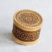 Для дома и интерьера handmade. Livemaster - original item Jewelry box made of birch bark