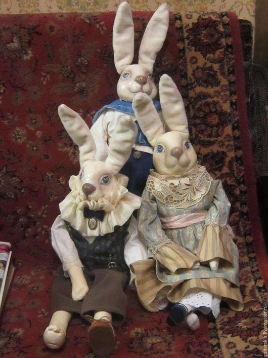 Коллекционные куклы ручной работы. Ярмарка Мастеров - ручная работа. Купить Другие приключения кролика Эдварда. Handmade. Папье-маше