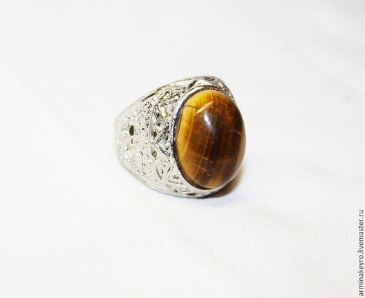 Кольца ручной работы. Ярмарка Мастеров - ручная работа. Купить Перстень с тигровым глазом. Handmade. Золотой, кольцо ручной работы