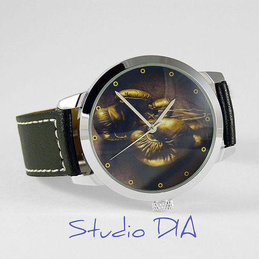 Часы. Наручные Часы. Оригинальные Дизайнерские Часы Боксерские Перчатки (Бокс). Студия Дизайнерских Часов DIA.