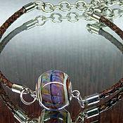 Украшения ручной работы. Ярмарка Мастеров - ручная работа Браслет с бусиной в стиле пандора. Handmade.