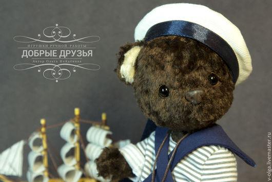 Мишки Тедди ручной работы. Ярмарка Мастеров - ручная работа. Купить Мишка морячок Максимка. Handmade. Коричневый, моряк