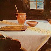 Для дома и интерьера ручной работы. Ярмарка Мастеров - ручная работа Вышитая скатерть.. Handmade.