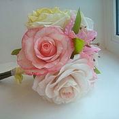"""Цветы и флористика ручной работы. Ярмарка Мастеров - ручная работа Букет из полимерной глины для невесты """"Я самая"""". Handmade."""