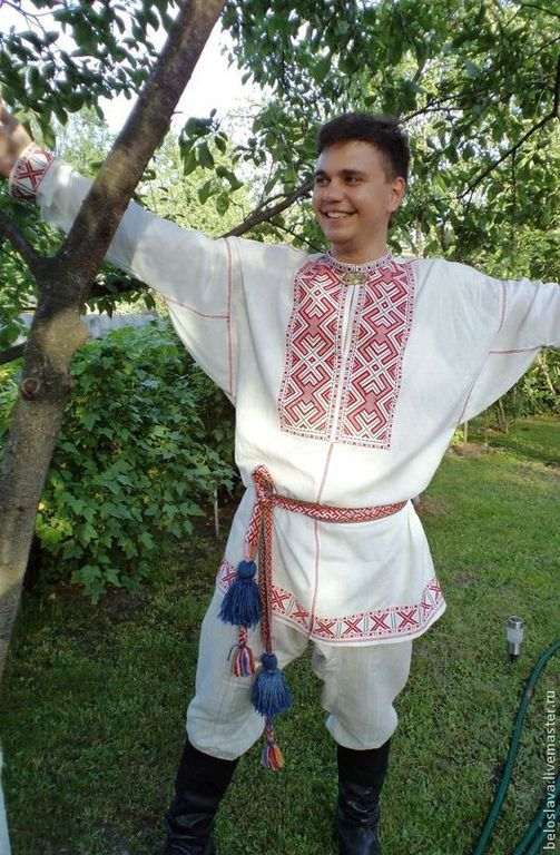 The shirt is a men's ceremonial, People\\\'s shirts, Bryansk,  Фото №1
