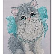 Материалы для творчества handmade. Livemaster - original item Design for machine embroidery. Blue ribbon. Handmade.