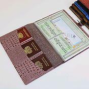 Сумки и аксессуары handmade. Livemaster - original item Organizer for A4 documents iris Caiman. Handmade.