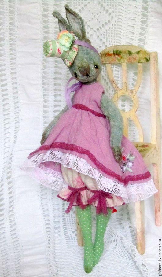 Коллекционные куклы ручной работы. Ярмарка Мастеров - ручная работа. Купить Одри.. Handmade. Сиреневый, лён