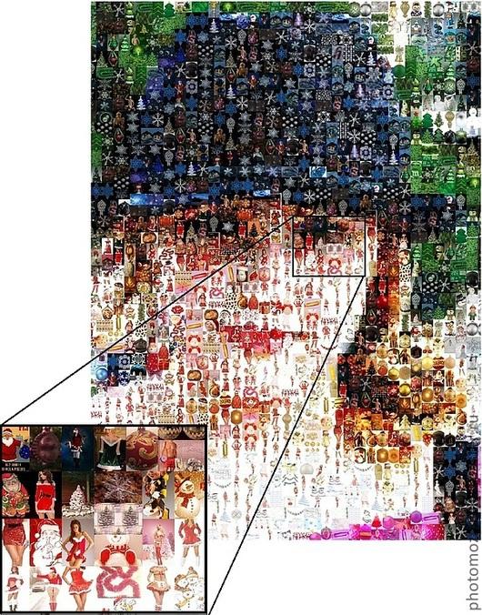 """Персональные подарки ручной работы. Ярмарка Мастеров - ручная работа. Купить Фотомозаика """"Моя внучка Лиза"""". Handmade. Фотомозаика, юбилей"""