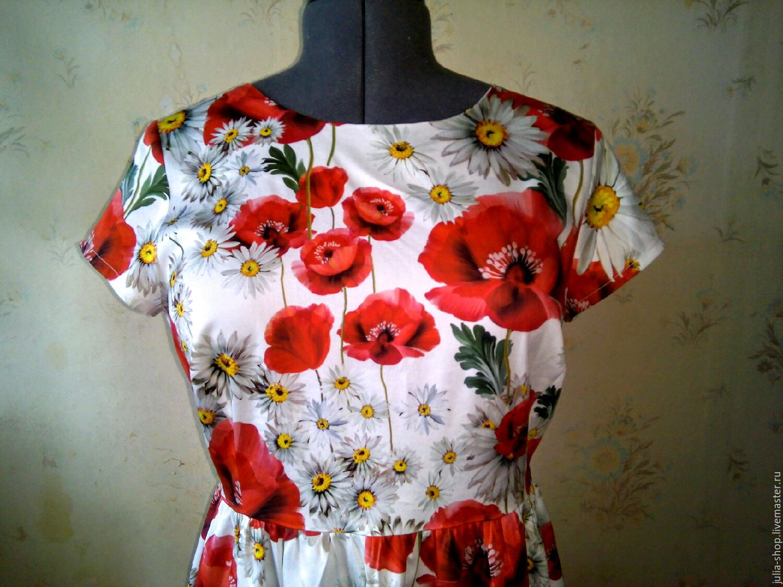 Платье ромашки и маки