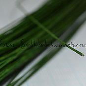 Проволоки ручной работы. Ярмарка Мастеров - ручная работа Проволока №24 тёмно-зеленая в обмотке 35 см, 50 шт. Handmade.