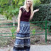 Одежда ручной работы. Ярмарка Мастеров - ручная работа Длинная серая юбка с кружевом. Handmade.
