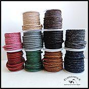 Материалы для творчества ручной работы. Ярмарка Мастеров - ручная работа Плетеные винтажные шнуры 4мм Нидерланды. Handmade.