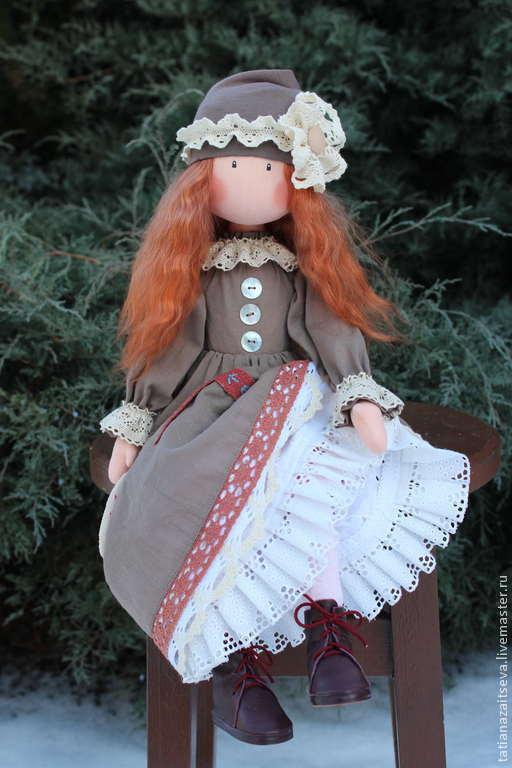 Коллекционные куклы ручной работы. Ярмарка Мастеров - ручная работа. Купить Интерьерная текстильная кукла Селеста. Handmade. Бледно-розовый