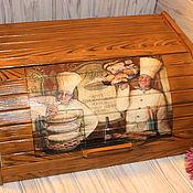 """Для дома и интерьера ручной работы. Ярмарка Мастеров - ручная работа Хлебница """"Повара"""". Handmade."""