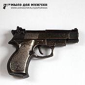 """Косметика ручной работы. Ярмарка Мастеров - ручная работа Мыло """"Пистолет Beretta"""" (малый объемный). Handmade."""