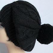 Аксессуары handmade. Livemaster - original item Beret black Angora CEAM. Handmade.