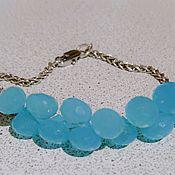 handmade. Livemaster - original item Blue Chalcedony Bracelet. Handmade.