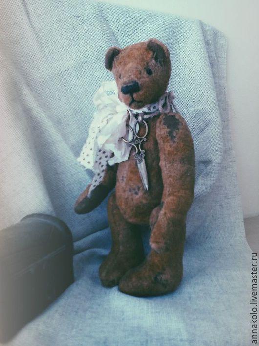 Мишки Тедди ручной работы. Ярмарка Мастеров - ручная работа. Купить Мишка Тедди Тео. Handmade. Коричневый, медведь, шплинты