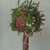 Топиарии ручной работы. Ярмарка Мастеров - ручная работа Домик для лесного человечка. Handmade.