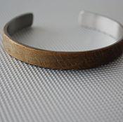 handmade. Livemaster - original item Bracelet made from Oak and Medical steel. Handmade.