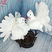 Аксессуары ручной работы. Ярмарка Мастеров - ручная работа Целующиеся голуби. Handmade.