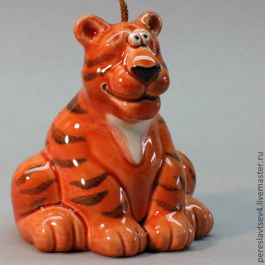 Колокольчики ручной работы. Ярмарка Мастеров - ручная работа. Купить Тигр колокольчик. Handmade. Тигр, Керамика, рыжий, керамический колокольчик