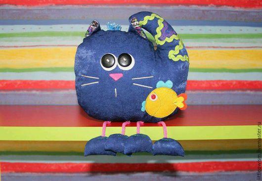 Игрушки животные, ручной работы. Ярмарка Мастеров - ручная работа. Купить Котик игрушка текстильная 15см. Handmade. Ярко-красный