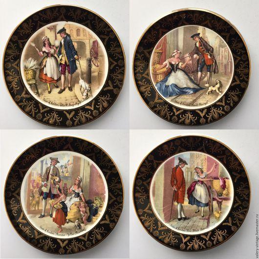 Винтажные предметы интерьера. Ярмарка Мастеров - ручная работа. Купить Винтажные тарелки 1960года, Liaverpool road pottery Ltd.. Handmade.