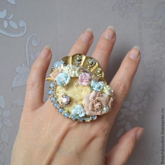 Кольца ручной работы. Ярмарка Мастеров - ручная работа. Купить Перстень в стиле рококо Рождение Венеры. Handmade. Барокко, полимер