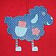 Новый год 2017 ручной работы. Двустороннее настенное панно- подвеска Ситцевая овечка. Елена Зернова. Ярмарка Мастеров. Подарок на новый год