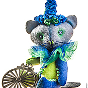 Куклы и игрушки ручной работы. Ярмарка Мастеров - ручная работа мини-котик клоун. Handmade.