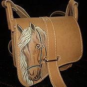 Сумки и аксессуары ручной работы. Ярмарка Мастеров - ручная работа сумка кожаная  с лошадью. Handmade.