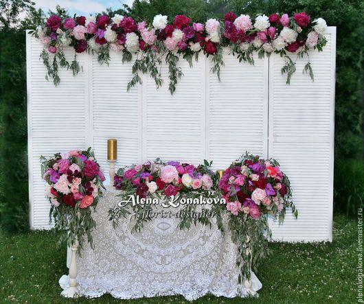 Свадебные цветы ручной работы. Ярмарка Мастеров - ручная работа. Купить Пионовое оформление свадьбы. Handmade. Свадьба, оформление зала