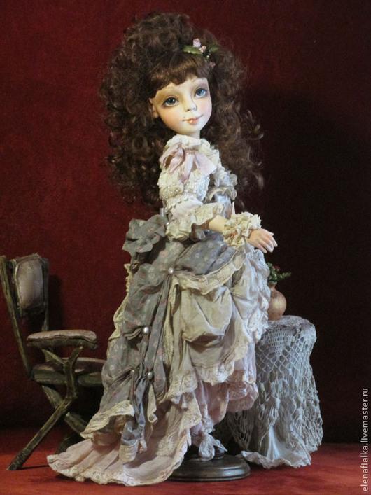 Коллекционные куклы ручной работы. Ярмарка Мастеров - ручная работа. Купить Анжелика. Handmade. Бледно-розовый, винтажный стиль, Паперклей