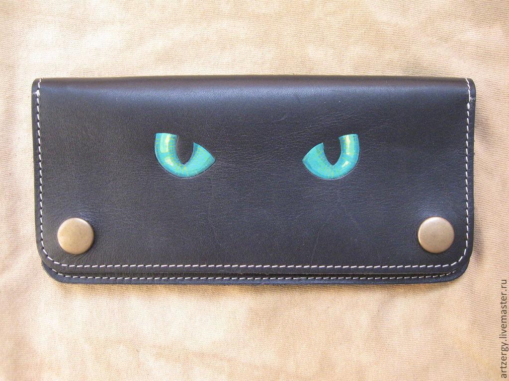 purse leather 'Eyes Strastnaya', Wallets, Moscow,  Фото №1