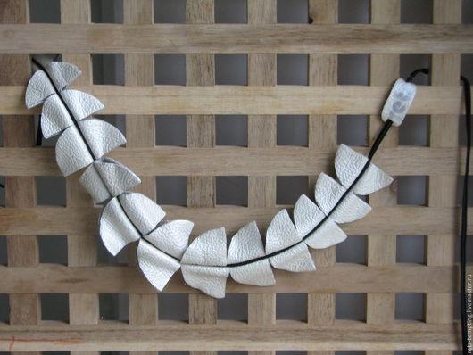 """Колье, бусы ручной работы. Ярмарка Мастеров - ручная работа. Купить трасформер Колье-ободок,чекер """"Кing fern"""". Handmade."""