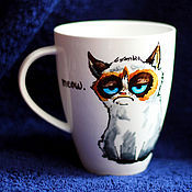 """Посуда ручной работы. Ярмарка Мастеров - ручная работа Чашка """"Сиамский кот"""" (0114). Handmade."""