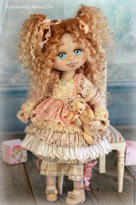 Коллекционные куклы ручной работы. Ярмарка Мастеров - ручная работа. Купить Мирабелла . Кукла авторская текстильная. Handmade. Кремовый, замша