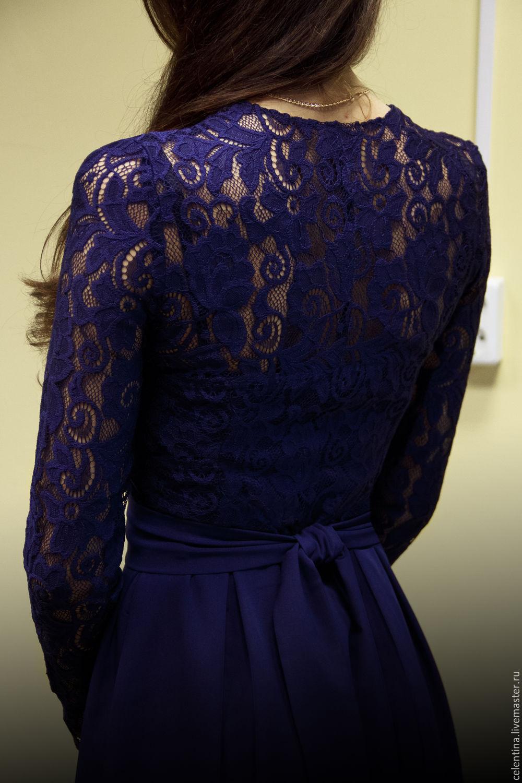 b0fdd70db0ce ... платье темно синее кружевное платье, нарядное платье из кружева, платье  вечернее на выход, платье