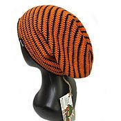 Аксессуары handmade. Livemaster - original item Bright men`s hat Orange. Handmade.
