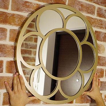"""Для дома и интерьера ручной работы. Ярмарка Мастеров - ручная работа Зеркало """"Gold Flower"""" 60 см. Handmade."""